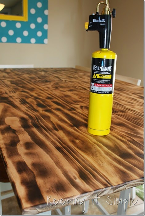 DIY-Dining-Table-With-Burned-Wood-Finish #Bernzomatic (29)