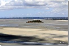 Maré baixa, faixa de areia vísivel (vista do Terraço Oeste).