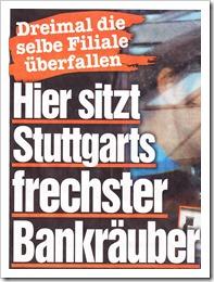 Bild Zeitung Bankräuber
