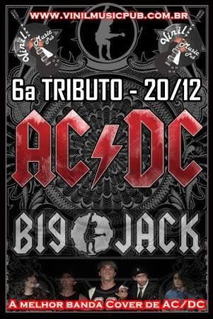 Banda Big Jack se apresenta sexta, dia 20, no Vinil Music Pub, em Indaiatuba