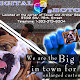 This was my first advertising piece I ever released to the public.  It was printed as a postcard and released on the locals.  I had fun with it but the layout is a bit cluttered.  Oh, notice the eyes on the dog.  I took the eyes from a photo of someone else (human).  I staged the shots of myself holding all of these 'imaginary' pictures for this piece.
