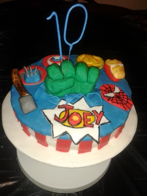 Anniething For Food Marvel Avengers 10th Birthday Cake