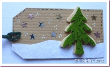 Christmas Tree Tag using kraft card