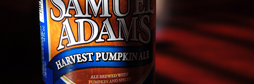 image of Samuel Adams' Harvest Pumpkin Ale courtesy of our Flickr page