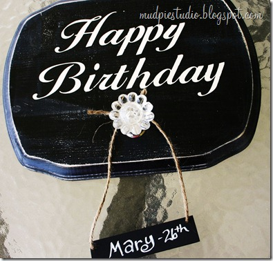Happy Birthday Sign - Tutorial 3