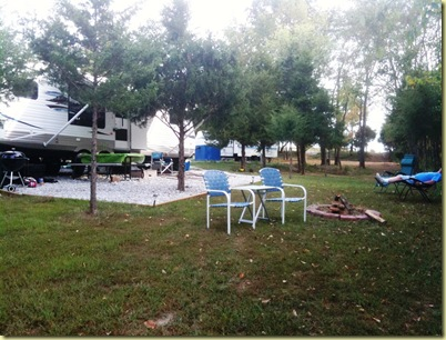 Campsite from low part
