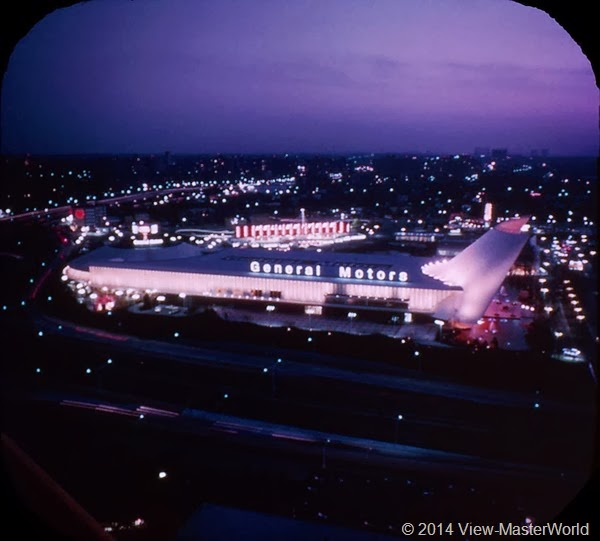 View-Master New York World's Fair 1964-1965 (A671),Scene 4 General Motors Futurama