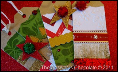 Christmas Tags Closeup