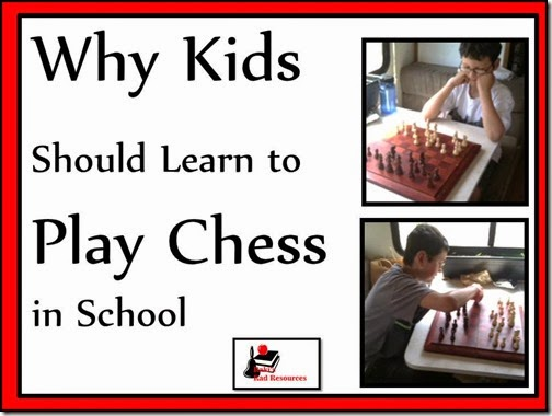 Why kids should learn to play chess in school - an editorial blog post by Heidi Raki of Raki's Rad Resources.