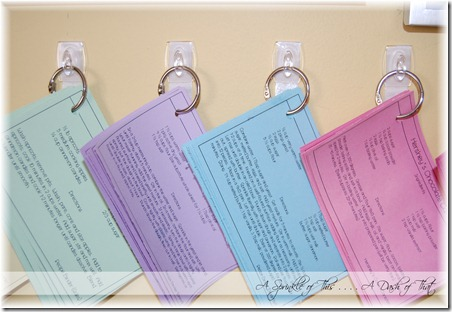 Recipe Cards Before {A Sprinkle of This . . . . A Dash of That}