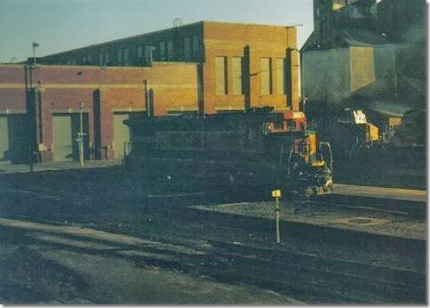 BNSF B40-8 #8615 in Havre, Montana in December 2002