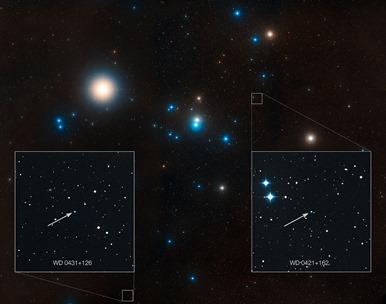 região do aglomerado estelar Hyades