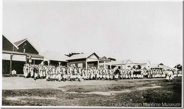 36-Naval-Drill-Practice-on-Owen-Street-1930s