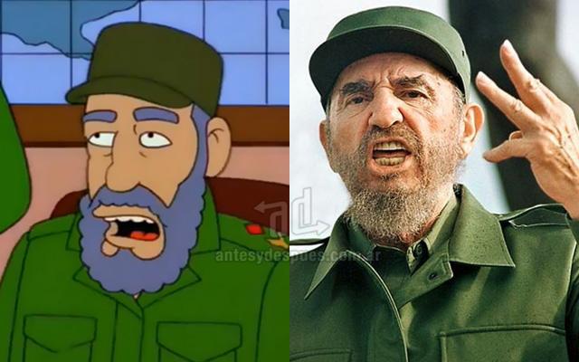 Foto de la version Simpson de Fidel Castro