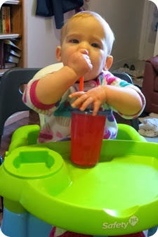 Drinking through a Straw