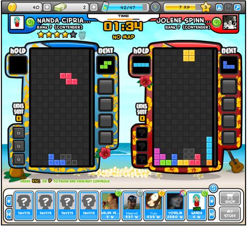 Tetris Battle no Facebook