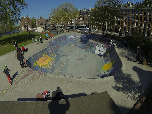 De Marnix Bowl in Amsterdam. De bekenste pool van Amsterdam.