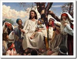Jesus com as criancas