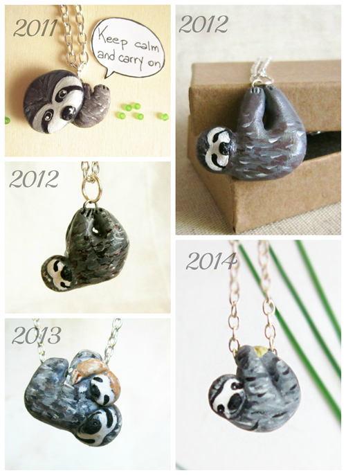 sloth necklace evolution