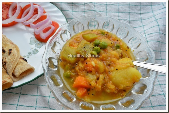 Aromatic Potato and Sorakayi Kurma