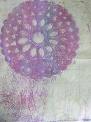 gelli printed papers clearing off inks from plate1