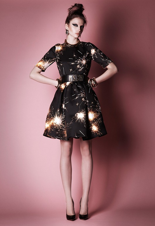MGSM, MSGM Dress, MSGM FW 2013, MSGM Fireworks, MGSM Dresses, Massimo Giorgetti