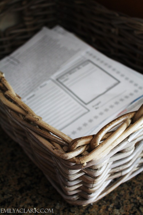 woven basket for papers