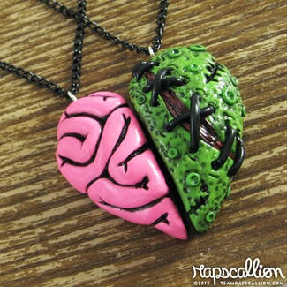 Zombie Brain Heart Best Friends Set from Rapscallion Design