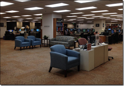 New welcome area replaces reference desk