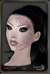 DANIELLE Lanna Face Tattoo Red'