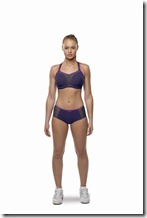 PANACHE sports bra purple front