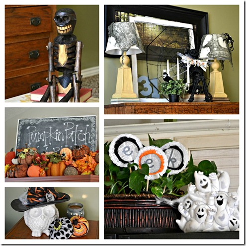 Halloween decor Collage