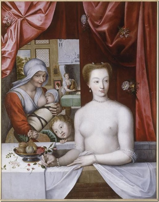 Ecole de Fontainebleau, Portrait de Gabrielle d'Estrée