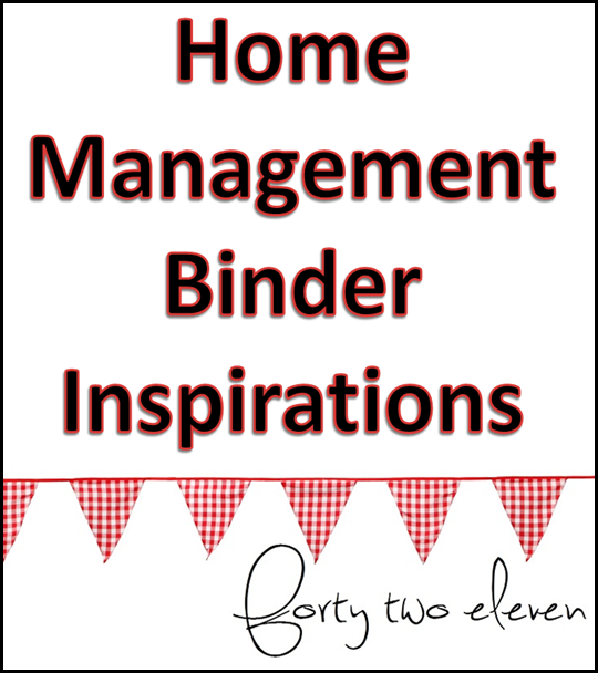 forty two eleven blog home management binder setup inspiration