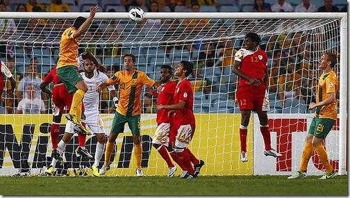 Australia v Oman Cahill scores