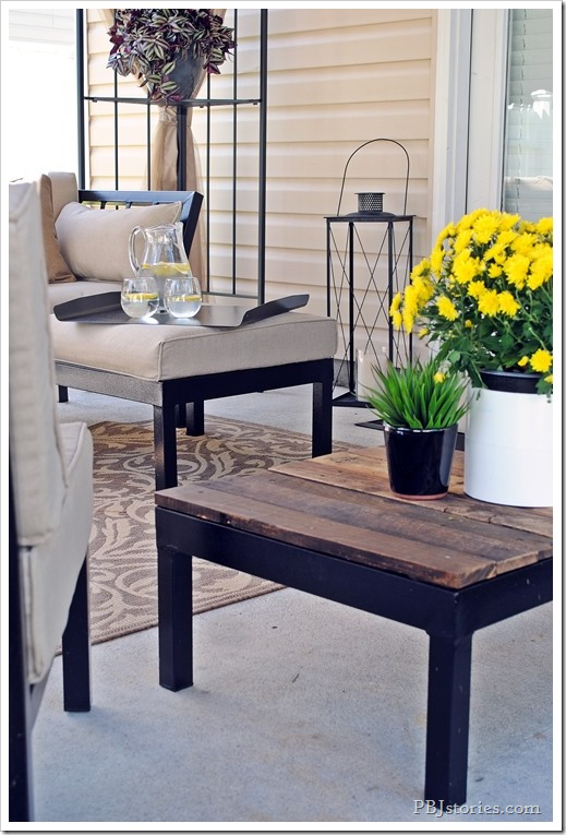 Reclaimed wood table makeover