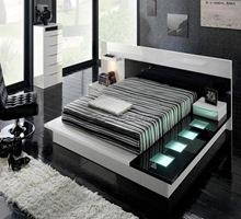 habitaciones-negras-diseño-de-camas-modernos