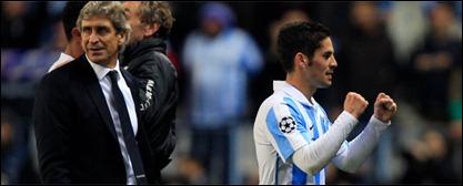 Málaga clasificó a Cuartos de Final de la Liga de Campeones