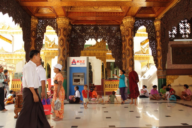 ATMs can now be found everywhere in Myanmar