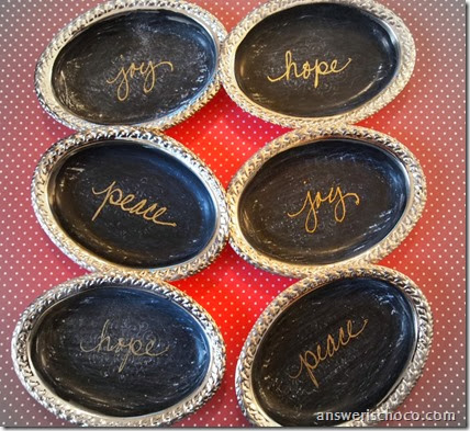 Mini Chalkboard Trays