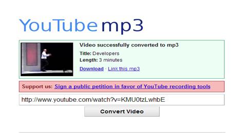 แปลงไฟล์ youtube เป็น mp3