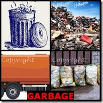 GARBAGE- 4 Pics 1 Word Answers 3 Letters