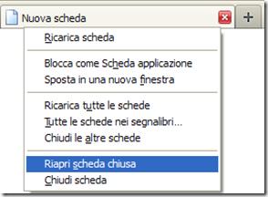 Riaprire scheda chiusa per sbaglio su Firefox