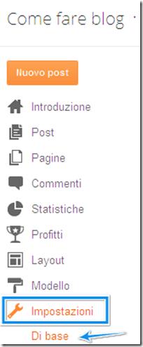 come modificare titolo descrizione blog blogger