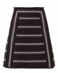 Chloé - textured striped A-line skirt - £840 - model