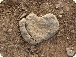 A 22 heart shaped stone