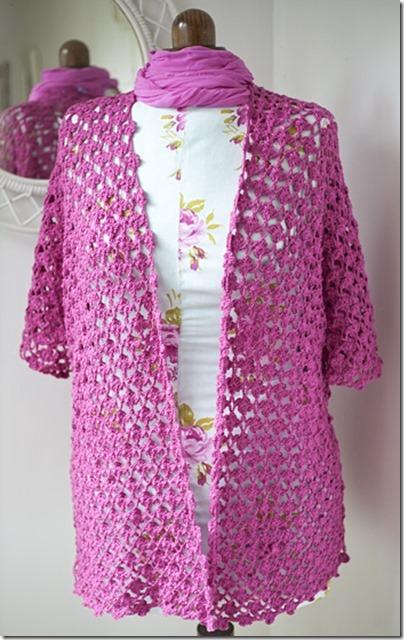 Crochet floral trellis jacket2