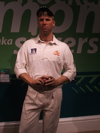 Shane Warne model at Madame Tussauds