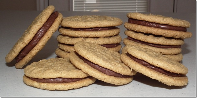 Cookie Carnival--PB Sandwich Cookies w/chocolate filling 8-25-11