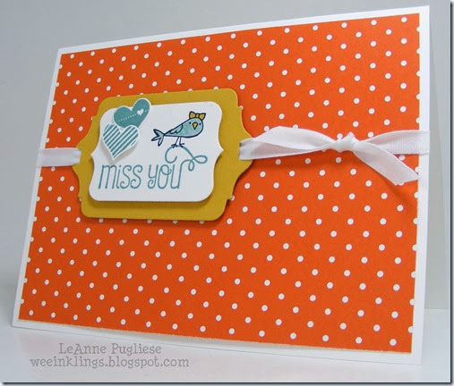 LeAnne Pugliese WeeInklings Sweet Stuff Stampin Up Birdie Pictogram Punches